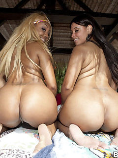 In today's feature is massive ass Cocoa & Ms. Desire. Those 2 ladies have a lot of overweight bum and love to make dong creme all over them.