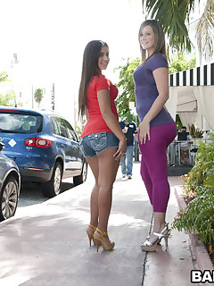 Those 2 broads have huge booty for days. Briella is a sexy little Latina that takes it in the can and Jynx hales from Texas where apparently huge booties grow on tree's.