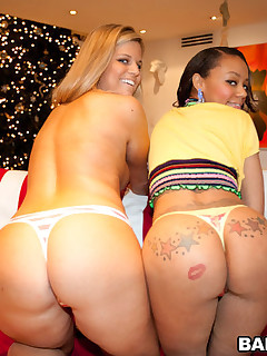 We got one vanilla botty (Jessica Marie) & one chocolate butt (Eva Taylor). U gota love that! We meet up with Champ at the beach in this movie and he's with two worthwhile pieces of culo when we get th