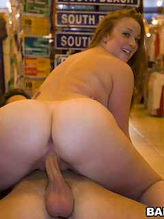 Kelsey Michaels and Alina Aldamen's Fortunate chubby arse Shopper