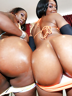 Overweight and ebony african big butts